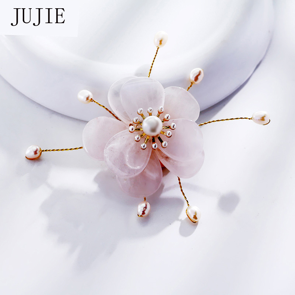 Wedding Flowers In Resin: JUJIE Luxury Flower Resin Brooch For Wedding Bouquets