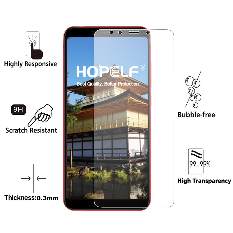Image 2 - HOPELF Tempered Glass for Xiaomi Mi A2 Lite 6X Screen Protector 2.5D Phone Protective Safety Glass for Xiaomi Mi A2 Lite GlassPhone Screen Protectors   -