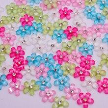 Разноцветные 10 мм милые смолы цветок со стразами flatback кабошон для DIY телефон, украшения ногтей