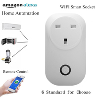 Timer Plug Wifi Power Socket Plug Outlet Smart Home Automation APP Control Switch Work With Amazon