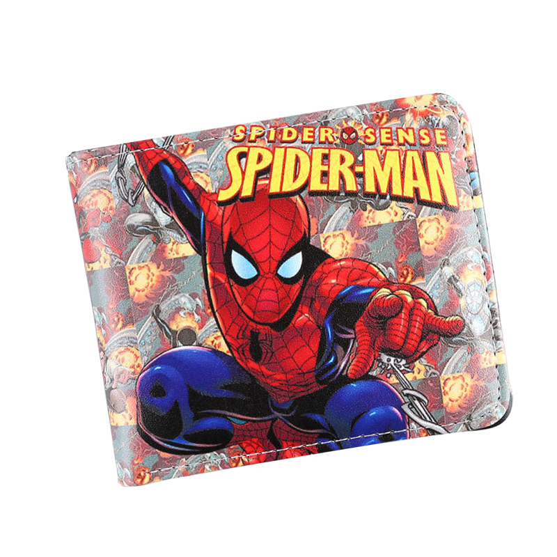 2017 Movie Super Hero Super Man Anime Wallets Printings Short Leather Women Purse Zipper Coins Pockets Cards Holder Money Bags dc movie hero bat man anime men wallets dollar price short feminino coin purse money photo balsos card holder for boy girl gift