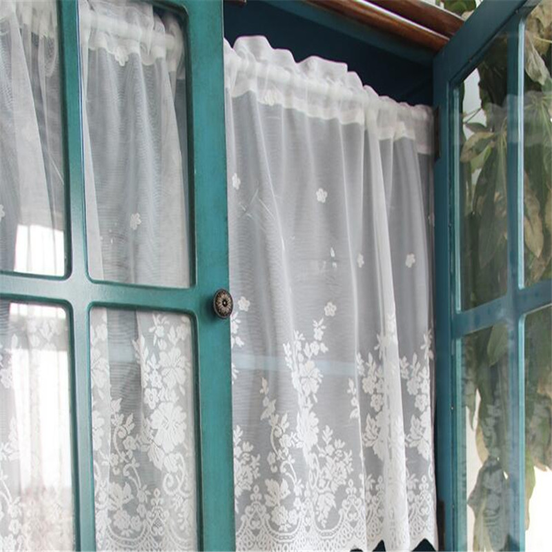 free shipping romantic lace curtain coffee half curtain kitchen door short curtain small curtain. Black Bedroom Furniture Sets. Home Design Ideas