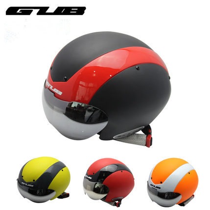GUB TT Bicycle bike Cycling Helmet Ultralight Integrally-molded MTB bike Road Bike Helmet goggles helmet With Magnetic UV Visor