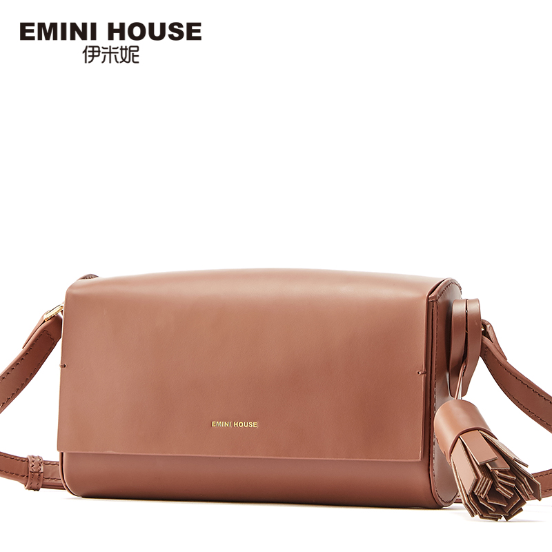 EMINI HOUSE Fashion Flap Bag Genuine Leather Tassel Women Messenger Bags Lady Shoulder Bags Luxury Brand Crossbody Bag For Women new women genuine leather handbags shoulder messenger bag fashion flap bags women first layer of leather crossbody bags
