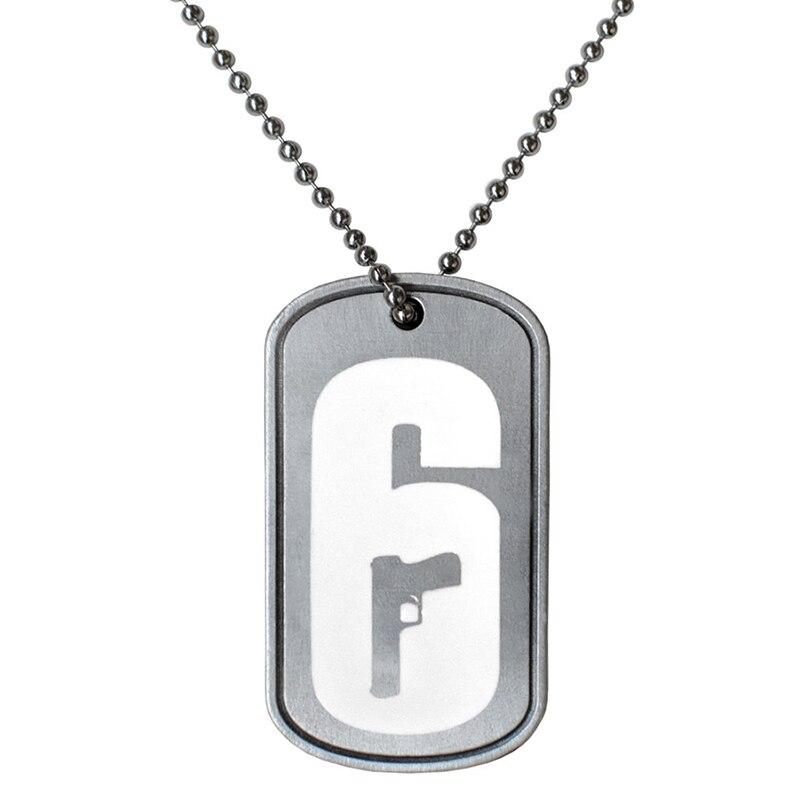 Tom Clancy's Rainbow Six Siege Operators Necklace Dog Tag High Quality Pendant for Boyfriend Boy Birthday Gift