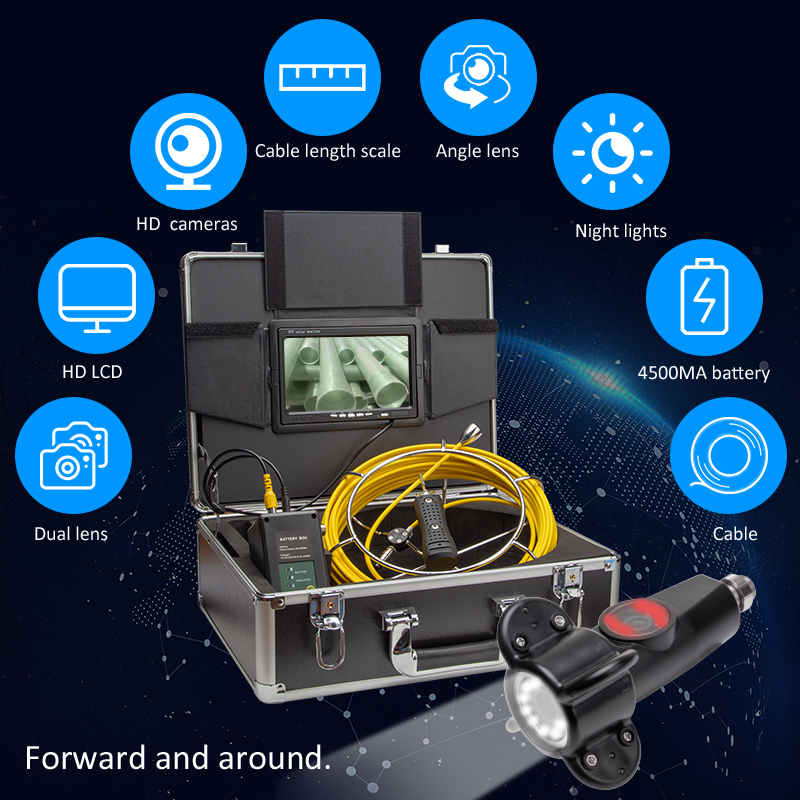 Image 5 - Eyoyo P70E 30M Pipe Pipeline Sewer Inspection Snake Video System DVR Camera Industrial Endoscope Waterproof IP68Surveillance Cameras   -