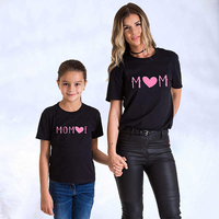 2019 Summer Mother and Daughter Clothes Print t shirt Set Family Mother Son Matching Outfit Mommy and Me mom Family clothing