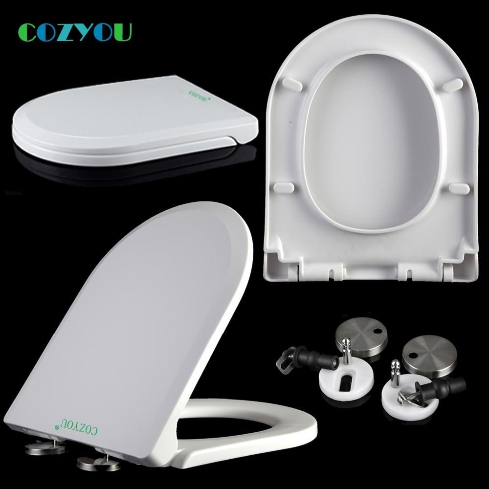 Slow Close Toilet Seat Double Button Quick Release Pp U Elongated