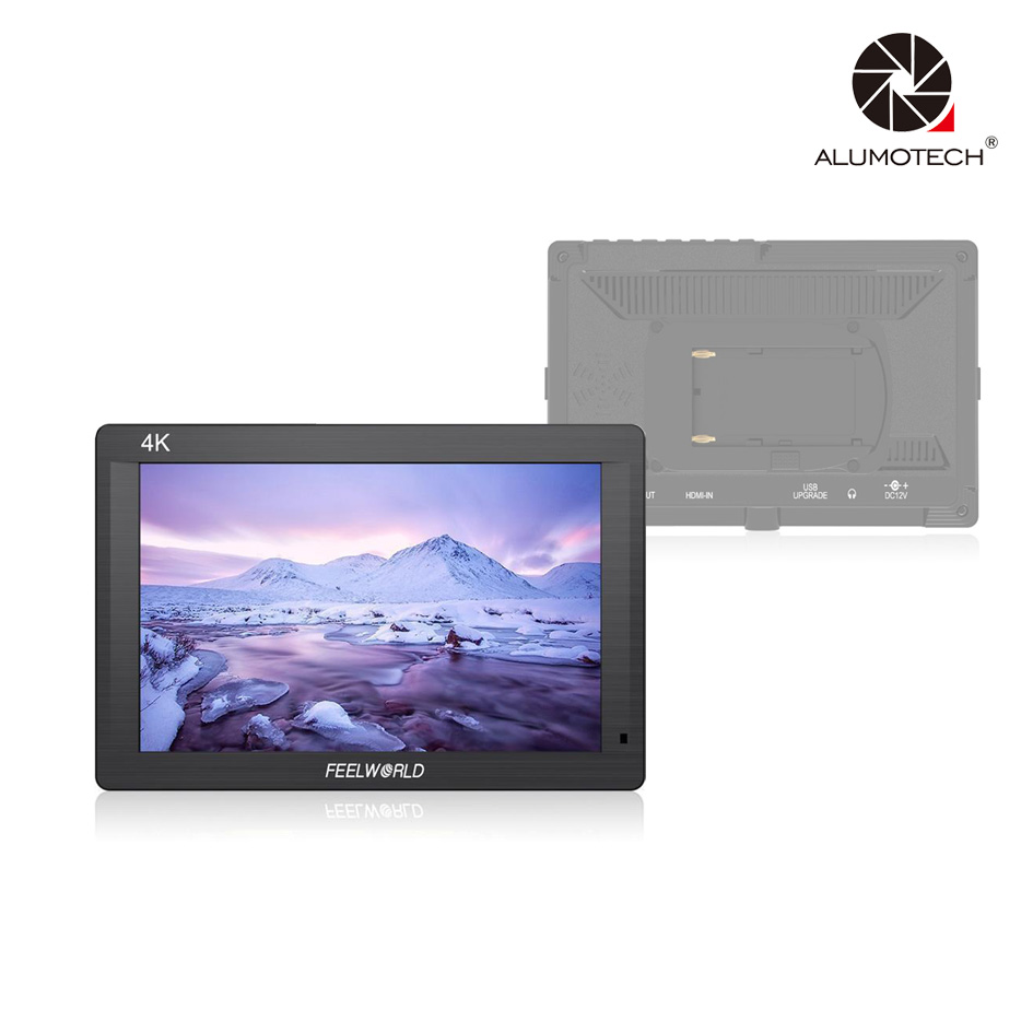ALUMOTECH FH7 7 IPS 4K 1920x1200 Full HD Camera Field Monitor with HDMI 4K UHD Input Output Peaking Focus Histogram Zebra Audio