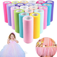 Organza tul rollo cumpleaños fiesta boda decoración Baby Shower 15cm 25 yardas carrete tutú regalo envoltura DIY Girl Shirt evento suministros(China)