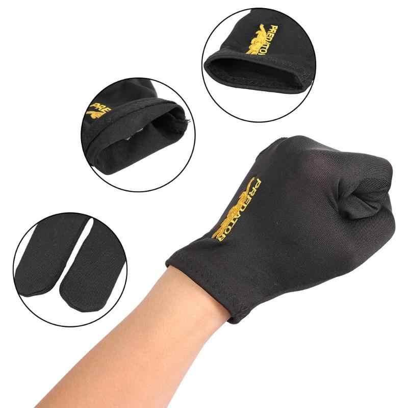 Кий для снукера бильярда перчатки лайкра ткани вышивка левая рука открыть три пальца перчатки снукер бильярдный бассейн фитнес аксессуары