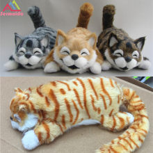 sermoido 11'' 30cm Funny laughing Cat Roll Electronic Pet Toys Simulation Animal Robot Cats Toys For Children Gifts DBP322(China)