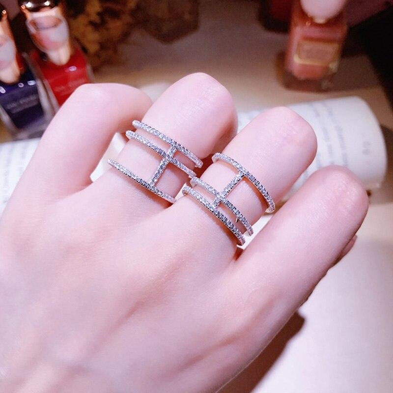 306de99985a9 Vintage cristal Anillos para las mujeres 2017 Nuevo ajustable Apertura de  joyería Diamantes con piedras falsas declaración plata Anillos de color  femenino