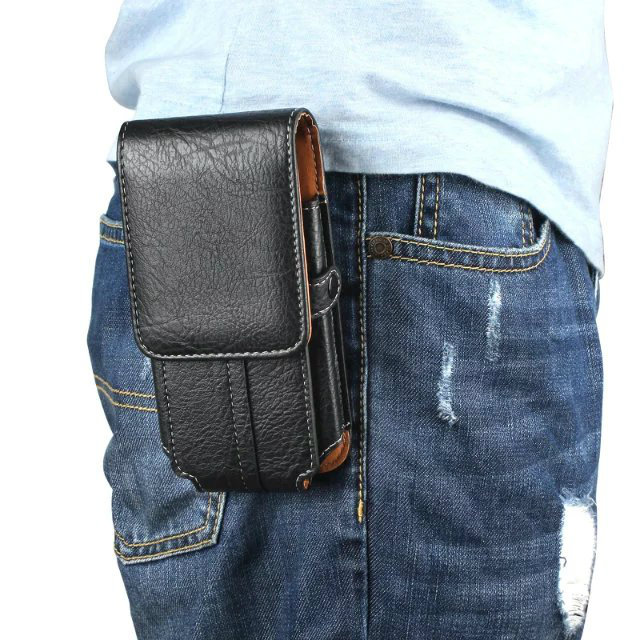 Leather Pouch Belt Clip Hook Loop Shockproof Phone Case Cover For LG Magna G4c H522Y H502f H500F H525N / X Power K210 K220DS