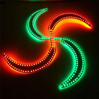 P50 Disco rave show wear led light sticks RGB colorful light nunchucks luminou glowing led props dance led costumes robot men dj