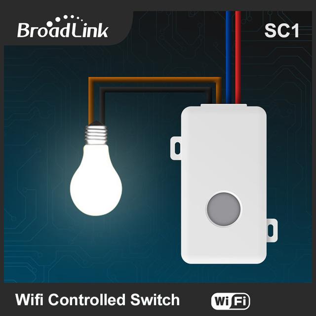 Sc1 broadlink wifi controlador smart home automation módulos app wireless wifi control remoto de interruptor de alimentación a través del móvil
