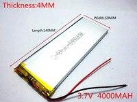 3.7 볼트, 4000 미리암페르하우어, 4050140 PLIB (폴리머 리튬 이온 배터리) 리튬 이온 배터리, GPS, mp3, mp4, 휴대 전화, 스피