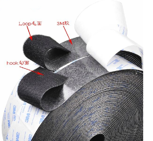 2.5cm x 10m 2 Rolls 3M Self-adhesive cable tie nylon strap Power Wire Magic Tape Sticks Hook Loop Tape Free Shipping holy land bio repair cellular firming gel укрепляющий гель 50 мл