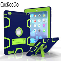 ArmorBox Three Layer Convertible Heavy Duty Rugged Hybrid Protective With KickStand Case For IPad 2 IPad