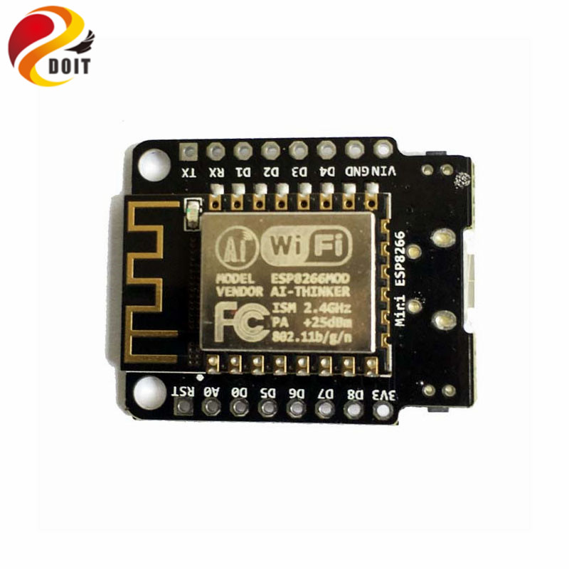 Official DOIT 10pcs/pack The Newest Mini NodeMCU WiFi Development Board from ESP8266 ESP-12F 4M bytes flash ESP 12F Lua IoT diy ti bluetooth 4 0 ble mini development kit cc2540dk mini cc2541dk mini official tutorial