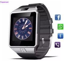 Espanson DZ09 Relógio Inteligente Relógio de Pulso com Homens Eletrônica Digital Cartão SIM câmera Esporte Smartwatch Para iPhone ISO Android Telefone Wach