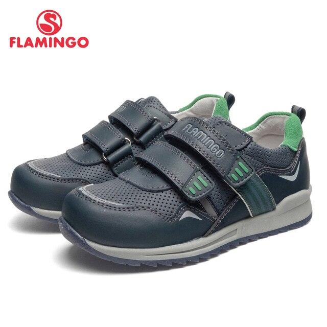 Кроссовки Фламинго для мальчиков 91P-XY-1164, вид застежки – липучка, кожаная стелька, для прогулки и отдыха, размер 27-32. Модная стильная модель.