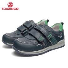 QWEST/брендовые кожаные стельки; дышащие детские спортивные ботинки с застежкой-липучкой; размеры 27-32; детские кроссовки для мальчиков; 91P-XY-1164