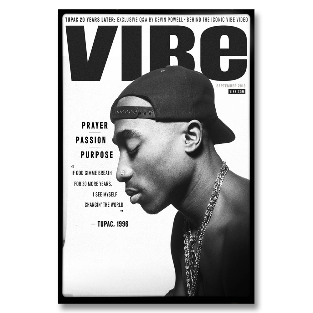 A326 Tupac Shakur 2Pac Top A4 Art Silk Poster Light Canvas Painting Print Home Decor Room
