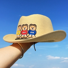 Toddler Spring Straw Hats Kid Summer Cap Baby Sun Hat For Girl Boys Bucket  Cap For 94c2c9f0b58a