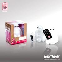 100% Echt infoThink Grote Hero 6 Baymax USB LED Nachtlampje Met Afstandsbediening, Marvel Verstelbare Ademhaling Desktop Baymax LED Mood Lamp