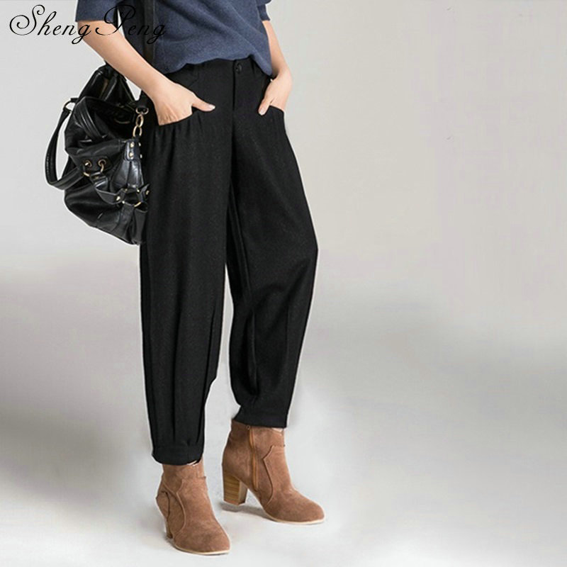 2 Mujeres 2018 Moda Invierno Harén Damas 1 Negocios Otoño De La Oficina Pantalones Holgados Cc075 E Las Elegante 5xBwqItT