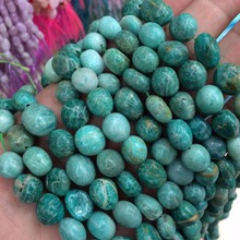 8x10mm freeform blue amazonite beads natural stone beads DIY loose beads for jewelry making free shipping wholesale !