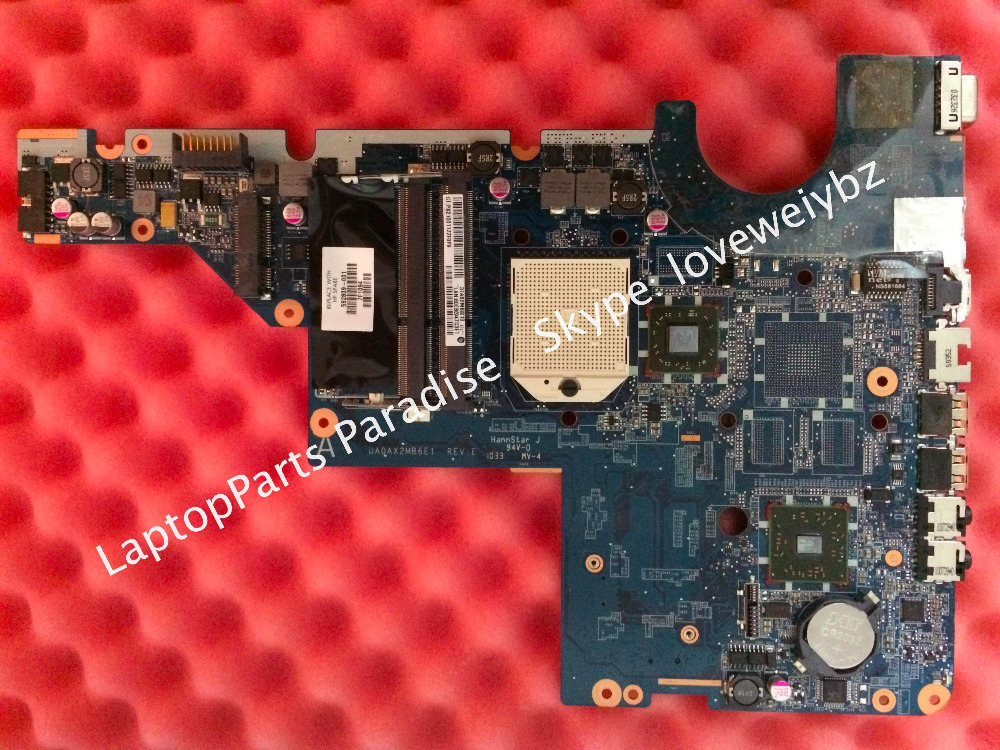 ФОТО Working Excellent DA0AX2MB6E1 REV:E For HP CQ62 G62 CQ42 G42 Laptop motherboard 592809-001 Mainboard