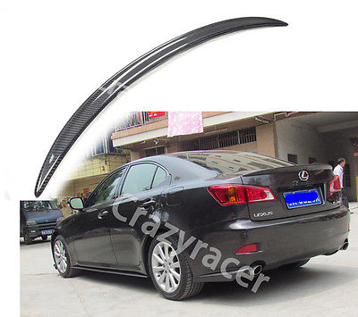 For Lexus IS250 IS350  Sedan Carbon Fiber Trunk Boot Lip Spoiler Wing 2005-2012 автомобильный коврик seintex 87953 для lexus gs300 iii 2wd 2005 2012