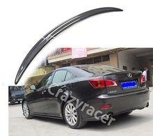 Для Lexus IS250 IS350 седан углеродного Волокно багажнике спойлер крыла 2005-2012