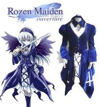 Envío Libre Rozen Maiden Suigintou Gótico Lolita Vestido de Cosplay del Anime