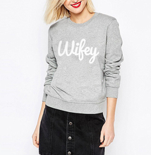 Wifey Print Loose Fit Jumper