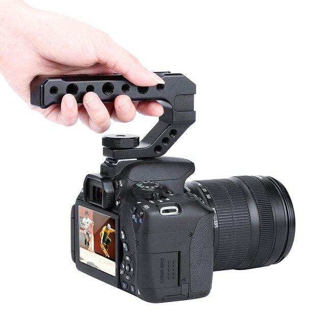 Uurig R005 Universele Dslr Top Handgreep Video Stabiliserende Extender W Koud Schoen Mounts Voor Monitoren Microfoons Led Video Licht