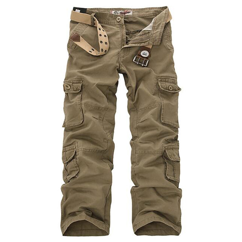 Men's Cargo Pants Casual Mens Pant Multi Pocket Military Overall Men Outdoors High Quality Long Trousers Plus size 28-46