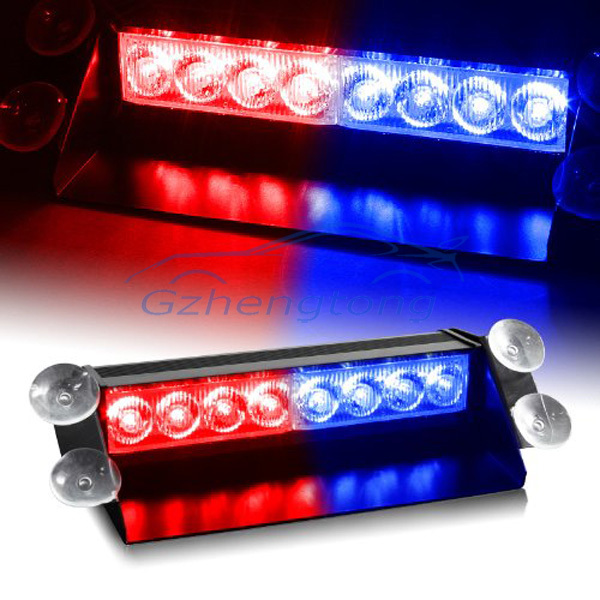 Red & Blue Generation 3 LED Law Enforcement Use Strobe Lights For Interior Roof  Dash  Windshield Auto modified lamp for all car
