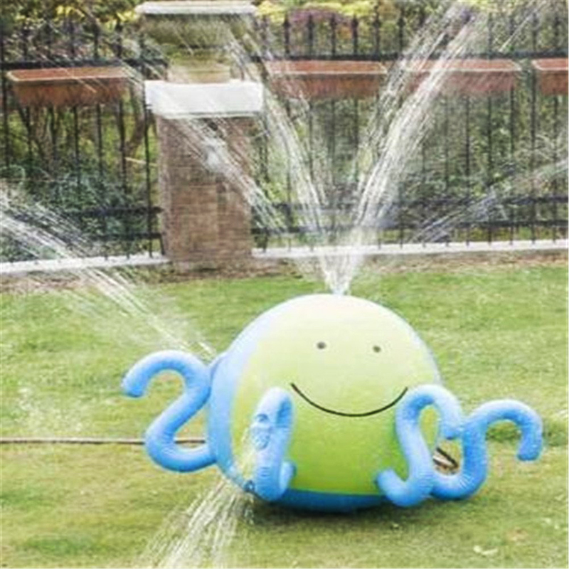 Inflatable <font><b>Toys</b></font> Ball Water Spray Ball Sprinkler Octopus <font><b>Squirt</b></font> Lawn Pool <font><b>Toy</b></font> For Children Summer Swimming Party Water <font><b>Activity</b></font>