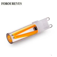 Bombilla LED G9 de 110V, 220V, 2W, 4W, lámpara COB de filamento, reemplaza 30W, 40W, luz halógena para araña, envío gratis