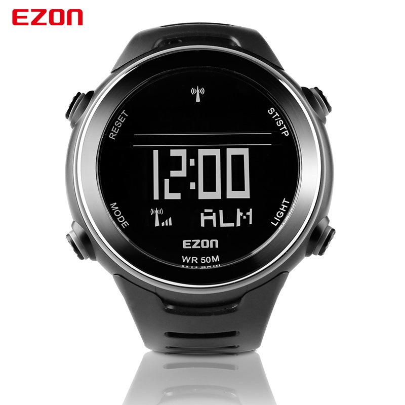 Original EZON L002 Radio Wave Calibrate Digital Men Sports ...