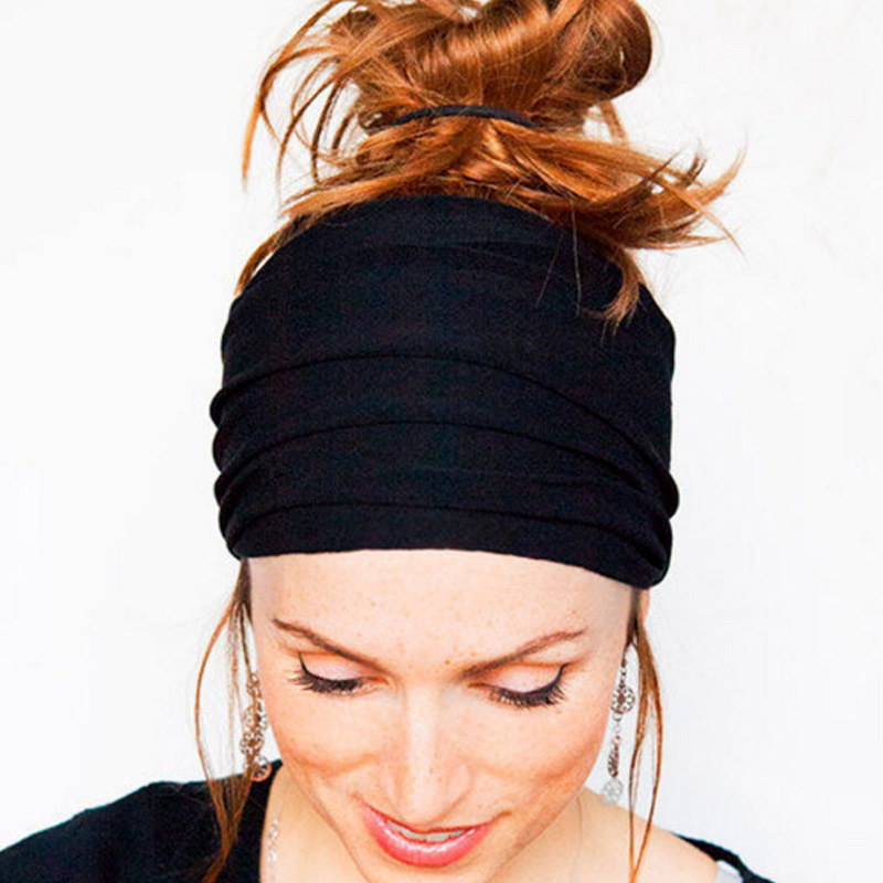 Soft Wide Hairband Hot Sale Elastic Stretch Turban   Headwear   Wrap Scarf Hat Headbands Hair Accessories Drop Shopping