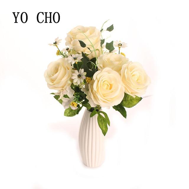 Yo cho artificial peony bouquet 6 heads oil painting artificial yo cho artificial peony bouquet 6 heads oil painting artificial flowers diy silk wedding flowers rose mightylinksfo