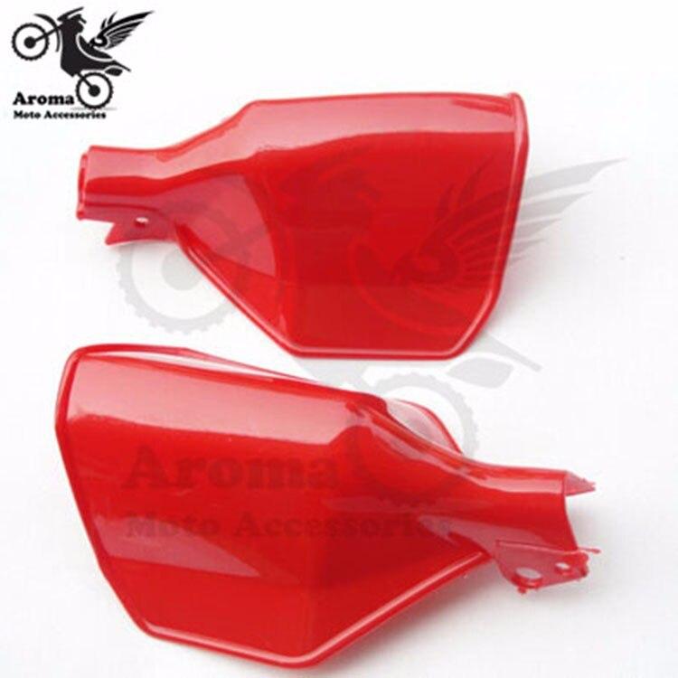 červená motorka ruční ochrana pro yamaha honda suzuki kawasaki moto díly unviersal Příslušenství motocykl ruční stráž barevný obtisk