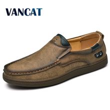 Brand Quality Split Leather Men Loafers 2019 New Breathable Men's Casual Driving Oxfords Shoes  Men Flats shoes Moccasins Shoes
