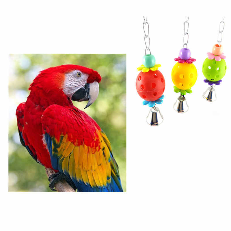 1PC Toys Pet Bird Bites Climb Chew Toys Bell Swing Cage Hanging Parakeet Budgie Products Pet Bird Supplies Birds Accessoires