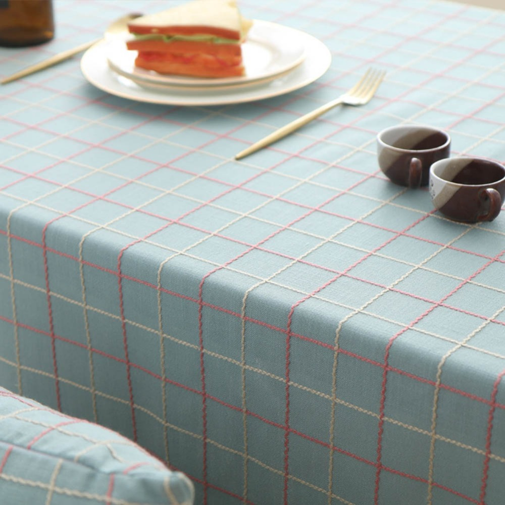 Swell Us 7 79 30 Off Meijuner Tablecloth Solid Color Embroidered Plaid Fabric Table Cover Cotton And Linen Rectangular For Hotel Party Dining Room In Download Free Architecture Designs Scobabritishbridgeorg