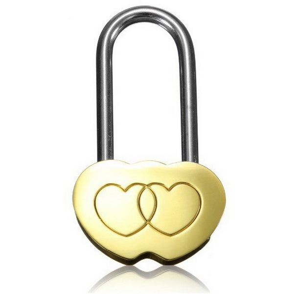 by dhl 100pcs Padlock Love Lock Engraved Double Heart Valentines Anniversary Day Gifts